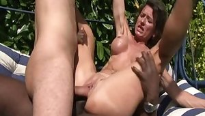 Best pornstars Bella Morgan, Alice Black and Joyce Lima nearby fabulous anal, facial adult clip