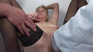 French Mature Slut Fabienne with an increment of Steffy Gets A Great Clinical Anal Examination 1920x1080 4000k