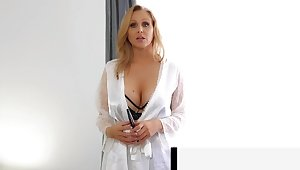Step-Mom Julia Ann Stuffs The brush Muff With Step-Son'_s Cock!