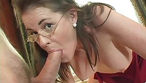 Mommy gets on the qui vive when it comes to cock