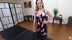 Legendary POV video starring curvaceous milf on the massage table Cherie Deville